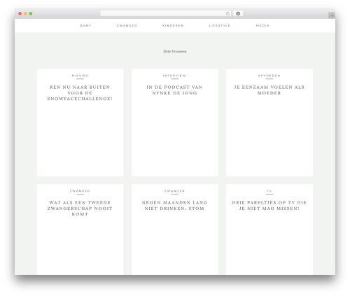 Kindred WordPress blog theme - fittevrouwen.nl