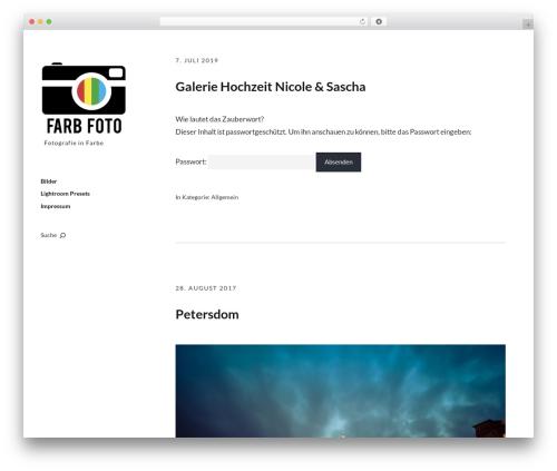 Moka WordPress theme design - farb-foto.de