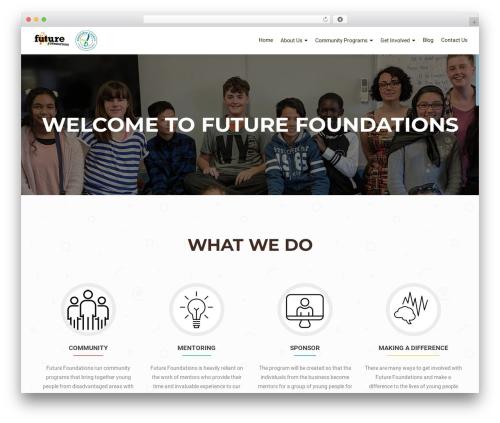 OnePirate template WordPress free - futurefoundations.org