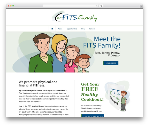 Outlet best WordPress template - fitsfamily.com