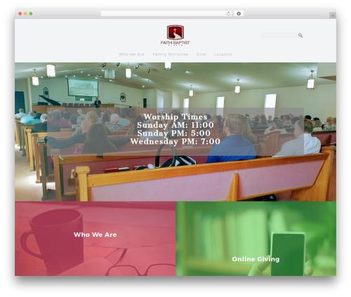 Sharefaith Church Website Template WP theme - faithbaptistofjefferson.org