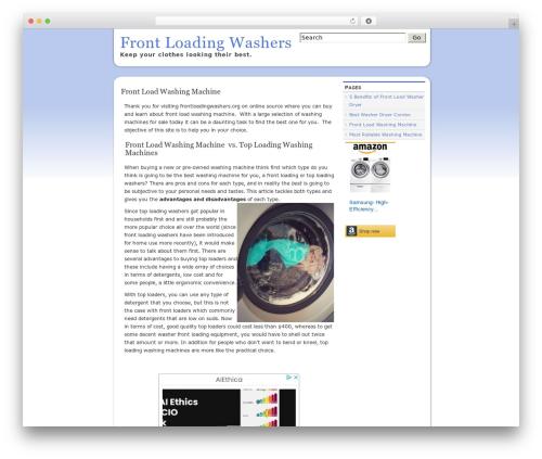 slight WordPress store theme - frontloadingwashers.org