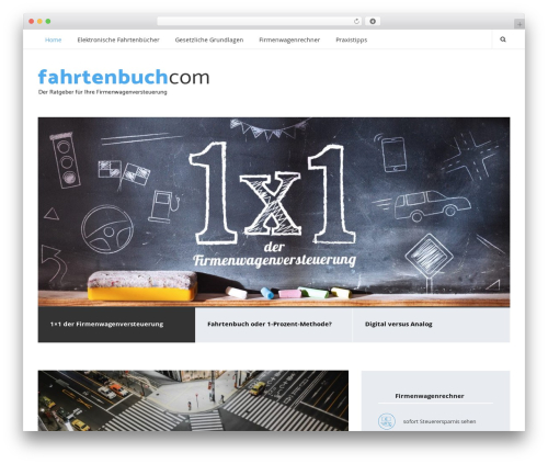 Smart Blog WordPress blog theme - fahrtenbuch.com