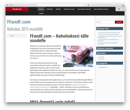 SmartAdapt free WP theme - ffandf.com