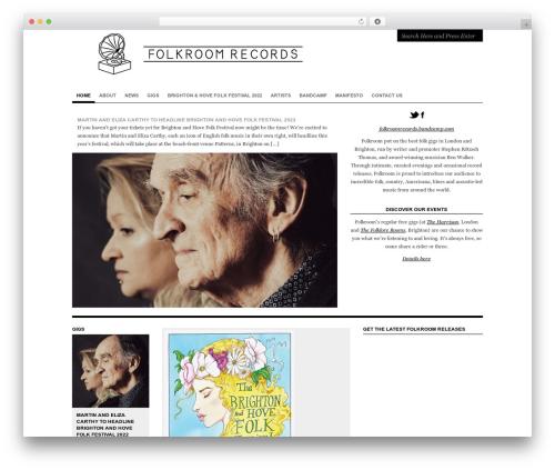 Structure WP theme - folkroom.co.uk