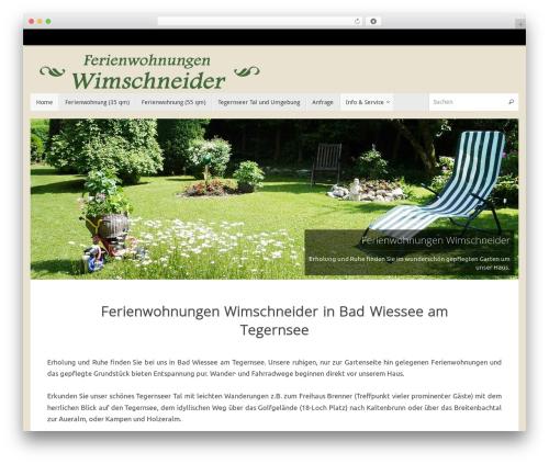 Tempera best free WordPress theme - ferienwohnungen-wimschneider.de