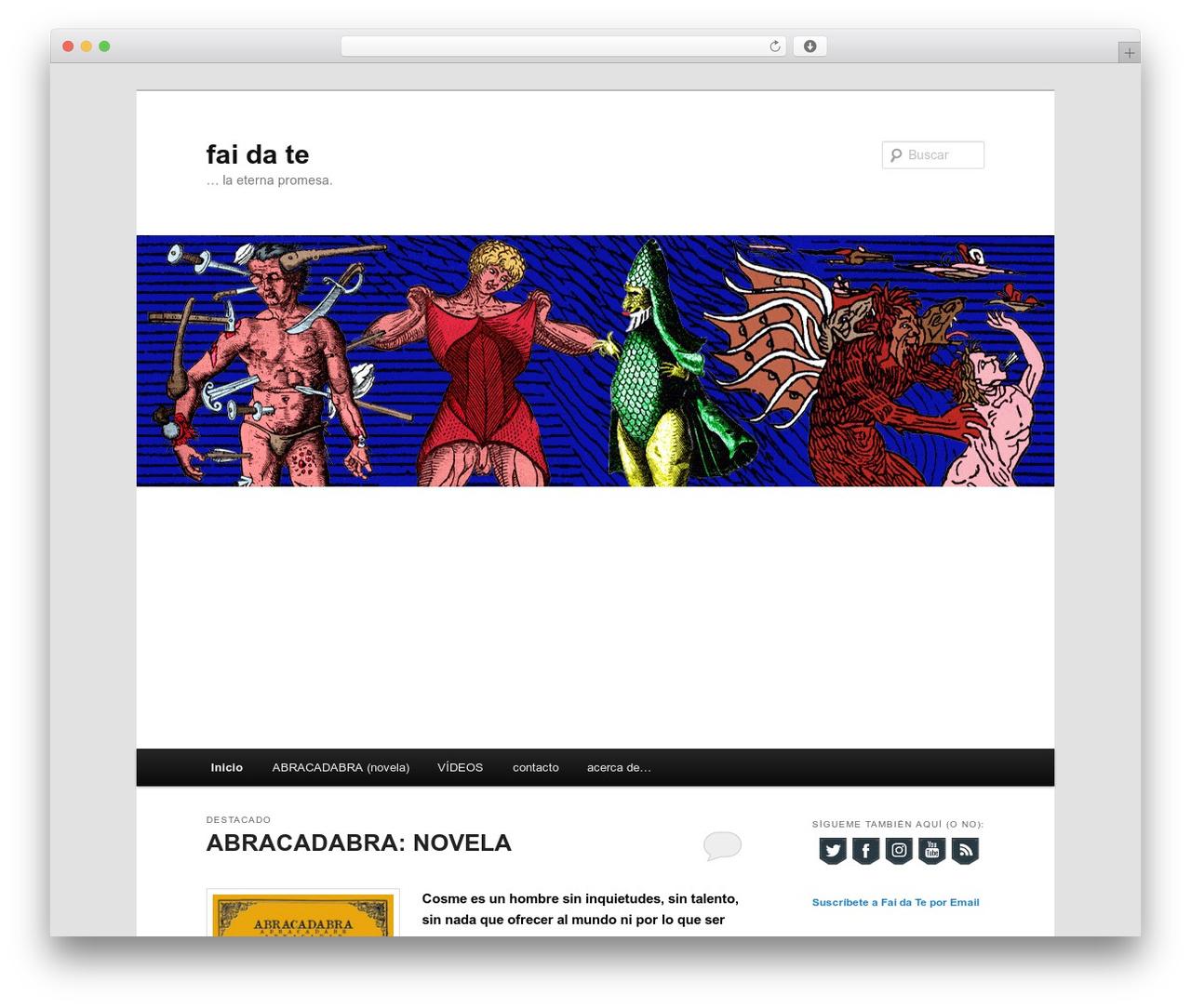 Twenty Eleven free WordPress theme - faidate.es