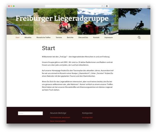Twenty Thirteen best free WordPress theme - freiburger-liegeradgruppe.org