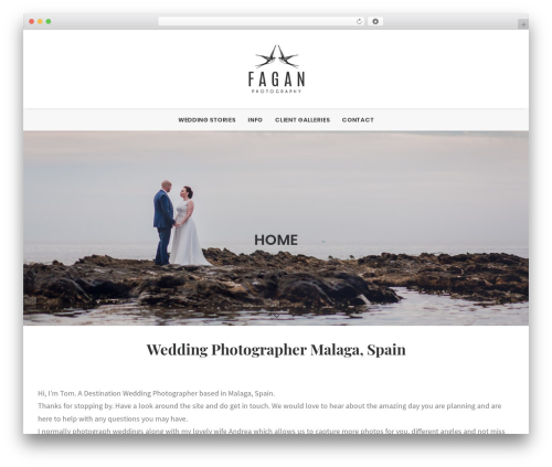 Uncode WordPress theme - faganphotography.com