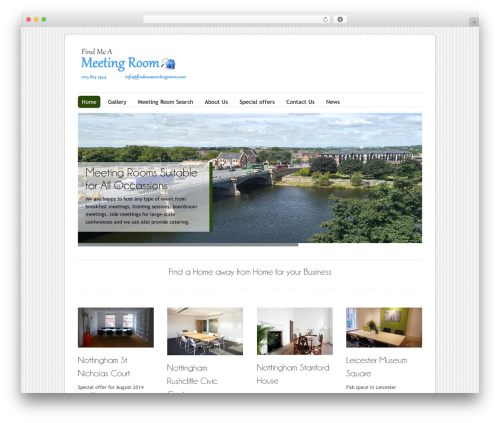 Free WordPress WP Header image slider and carousel plugin - findmeameetingroom.com