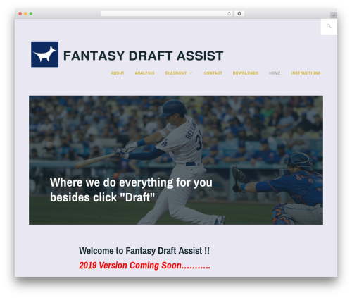 WordPress theme Ixion - fantasydraftassist.com