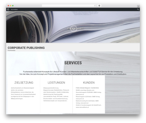WordPress theme SKT White - fuchsmedia.at