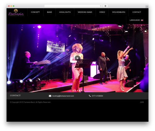 WP Omnia theme WordPress - fantasia-band.com
