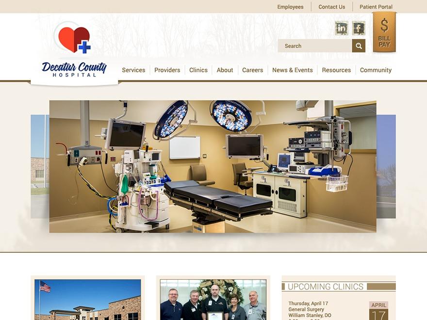 Decatur County Hospital best WordPress template