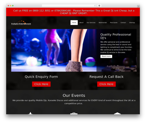 DJ WordPress wedding theme - djsinedinburgh.com