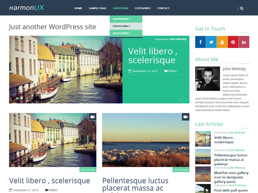 HarmonUX Core WordPress blog template