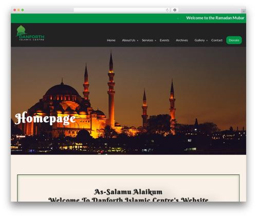 Mosque Wordpress Theme theme WordPress - danforthislamiccentre.com