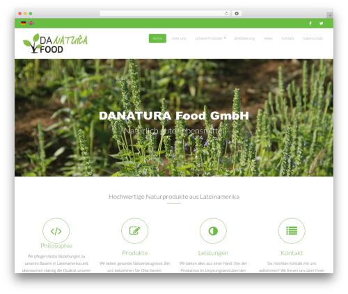 Organic Food food WordPress theme - danaturafood.com