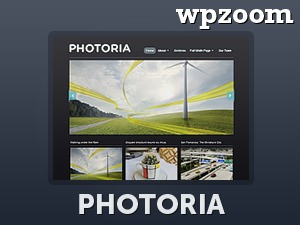 Photoria WordPress theme design