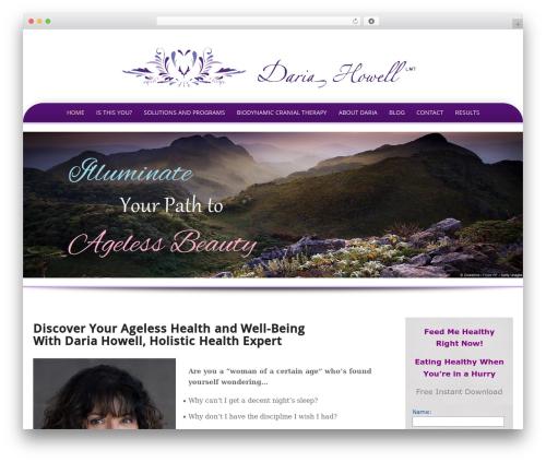 Preferential WordPress page template - dariahowell.com