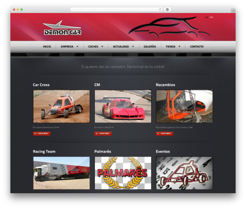 Radial Premium Theme WordPress theme - demoncar.es