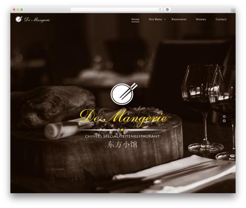 Rosa best restaurant WordPress theme - demangerie.nl