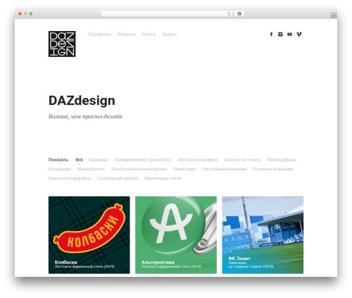Skills WordPress theme - dazdesign.ru