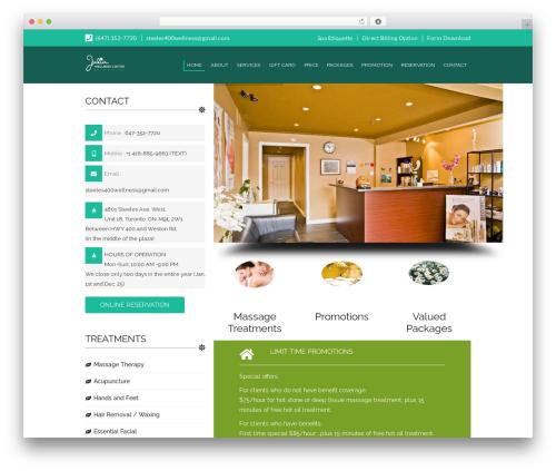 SpaLab massage WordPress theme - deeptissuemassagevaughan.com