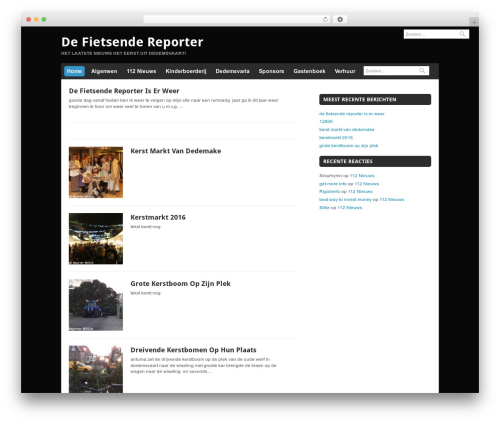 Theme WordPress Quik Wordpress Theme - defietsendereporter.nl