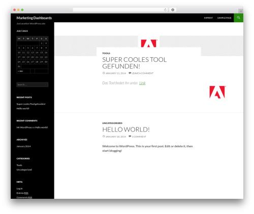 Twenty Fourteen free WordPress theme - dashboard-marketing.com