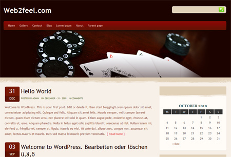 WordPress template Holdem