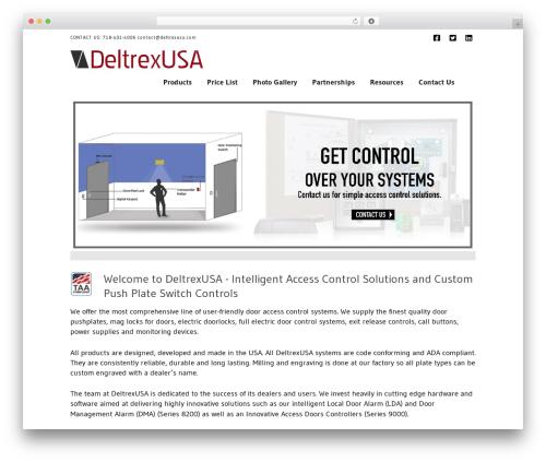 WordPress theme X - deltrexusa.com