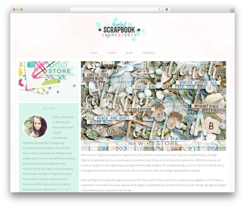 Adorn Theme template WordPress - digital-scrapbook-ingredients.com