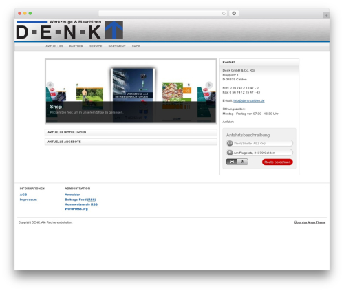 Arras Theme best WordPress template - denk-calden.de