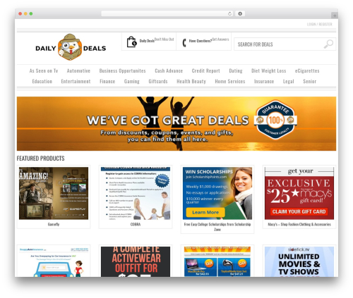 Bazar template WordPress - daillysavingsfinder.com