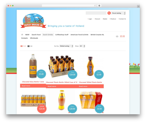 Best WordPress theme Shoppica - dutchsnacksuk.com/product-category/drinks/chocomel