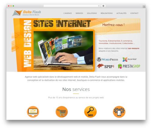 Classic template WordPress - deltaflash.fr