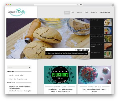 CookingPress food WordPress theme - delicatebelly.com