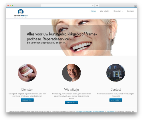 Customizr free WP theme - dental-artists.nl