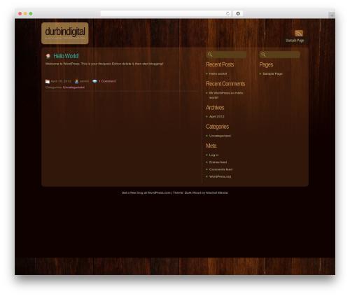 Dark Wood WordPress theme - durbindigital.com