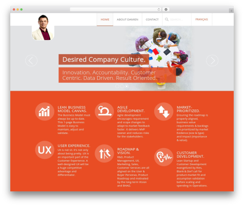 Infinite WordPress movie theme - damienrame.com