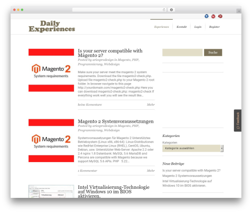 Lounge best WordPress template - daily-experiences.com