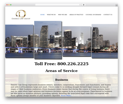 Movedo business WordPress theme - danielslawgroup.com