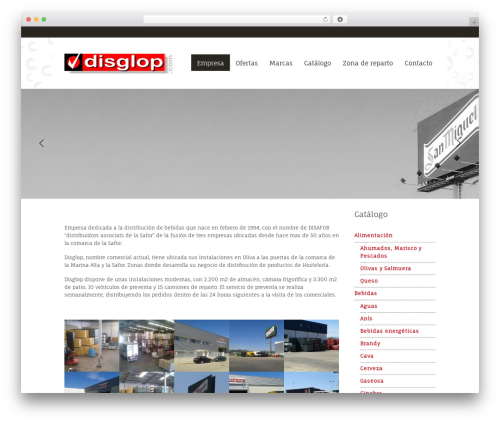 Mural WordPress page template - disglop.com