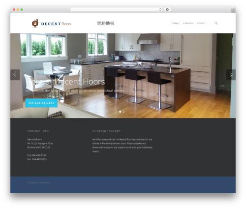 Salient top WordPress theme - decentfloors.com