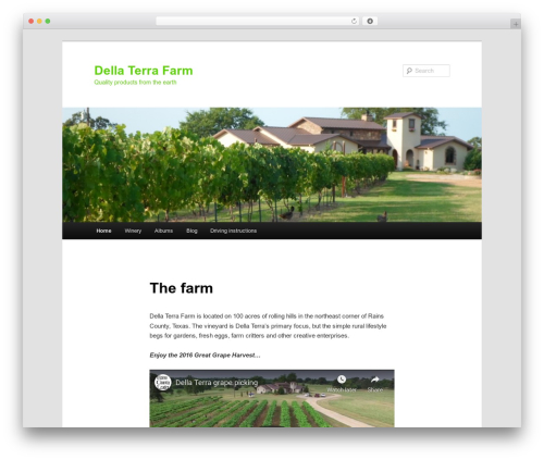 Template WordPress Twenty Eleven - dellaterrafarm.com