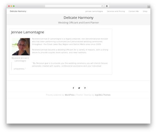 WordPress theme Clearsky - delicateharmony.com