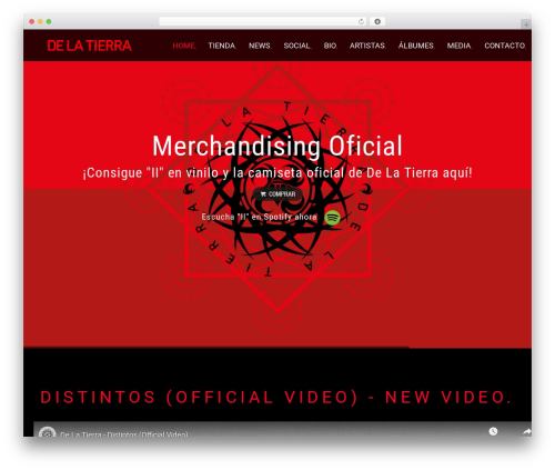 WordPress theme MUZIQ Jellythemes - delatierramusic.com