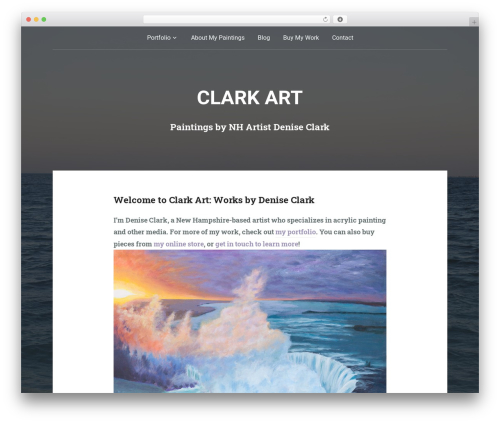 WordPress website template Padhang - deniseclarkart.com