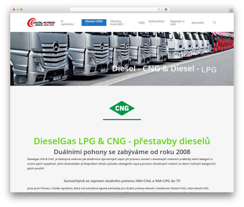 WordPress website template Salient - diesel-gas.cz